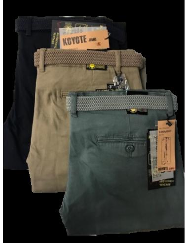 Pantalon Chino Recto De Hombre Koyote Color Verde Talla Mix 42